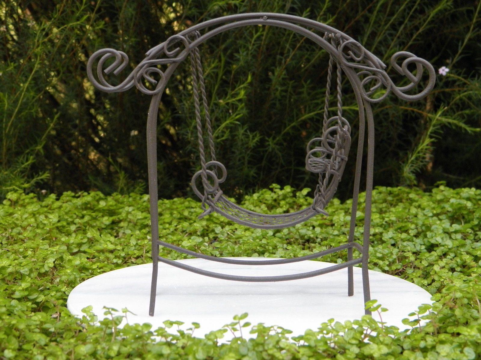 Dollhouse Miniature Garden Swing