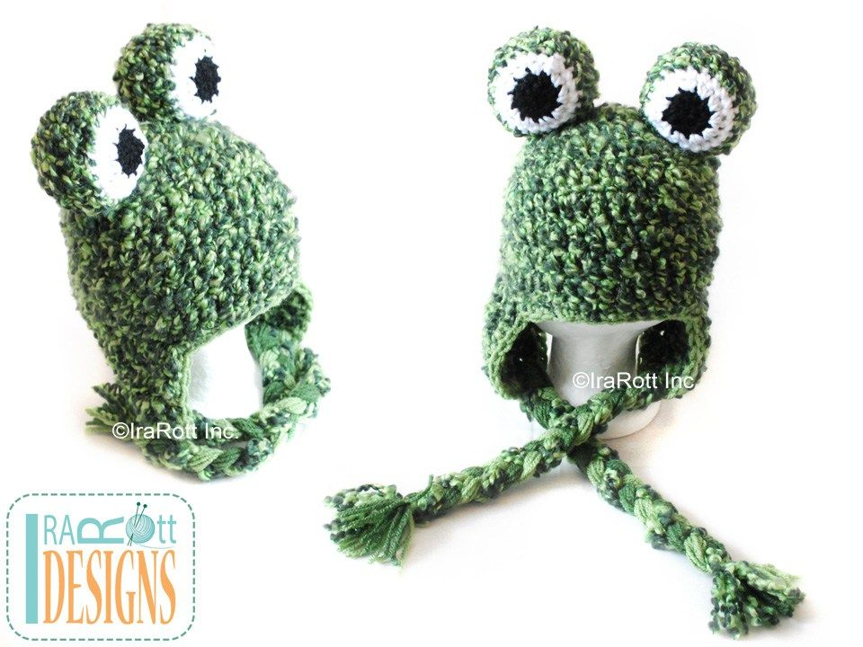 PDF Crochet Pattern for making a chunky Frog or Toad Hat for all ...