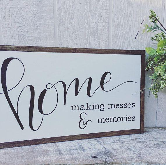 Large Home Sign Farmhouse Decor Home Sign Rustic Home Decor