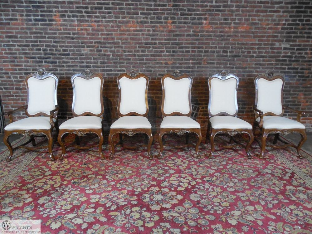 Antique furniture - Drexel Heritage Hampshire Collection Set Of 6 Chairs #Chippendale