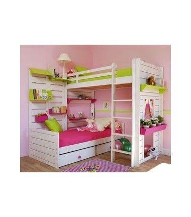 lits superpos s d 39 angle sans toit lit superpos. Black Bedroom Furniture Sets. Home Design Ideas
