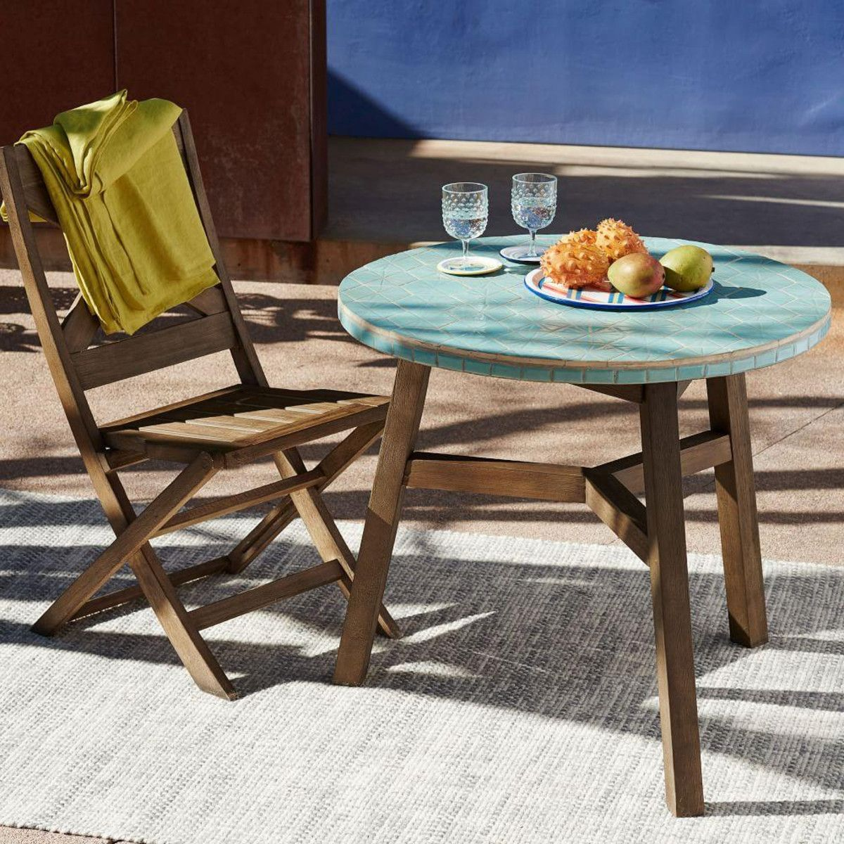 Add A Little Art To Your Outdoor Space With The Mosaic Tiled Awesome Mosaic Dining Room Table Design Inspiration