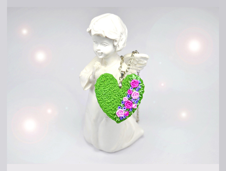 "Кулон ""Сердечко"" мастер класс из полимерной глины. Pendant ""Heart""  tuto..."