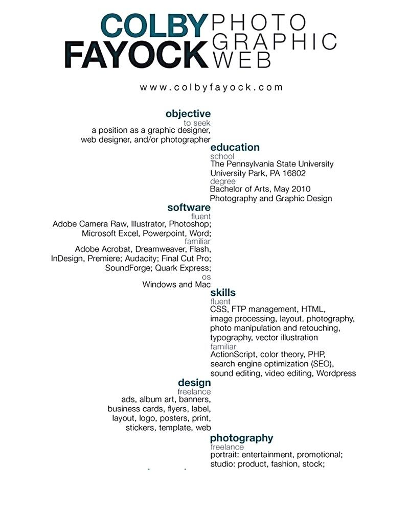Graphic Designer Resume Must Have A Professional Look Starting