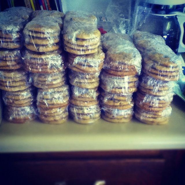Part of the order for 200 boxes of cookies.