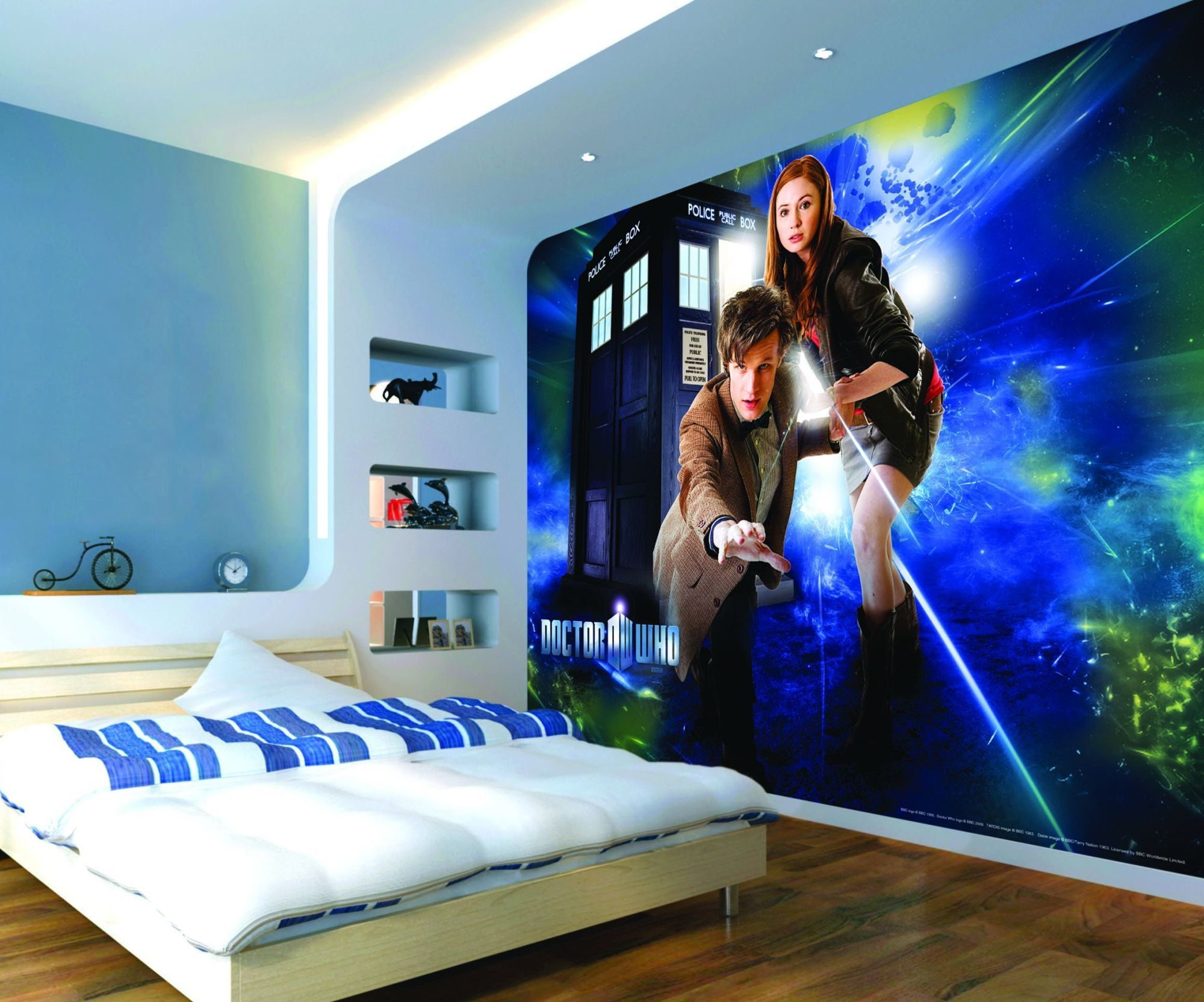 Doctor Who Wallpaper Mural Tardis 2 Fixed Size