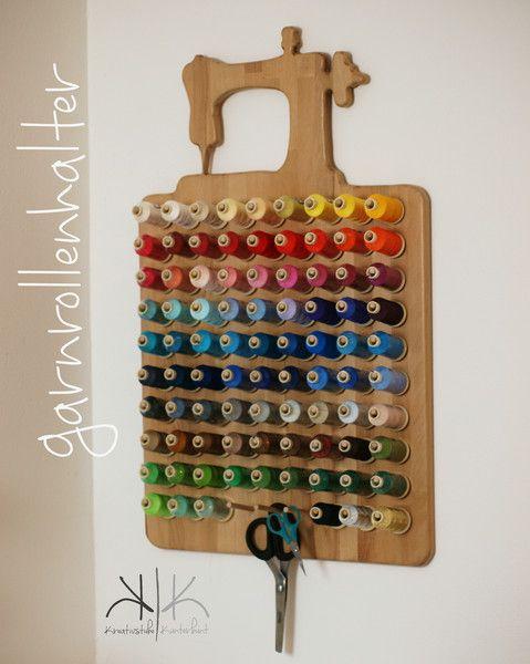 Photo of Handgefertigter Garnrollenhalter für 90 Spulen von Kreativstube-Kunterbunt-Shop…