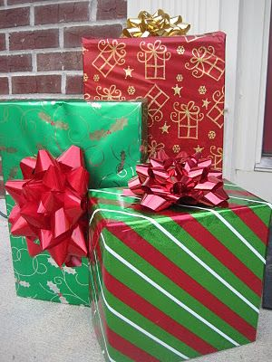 Front Door Decor Boxes Wrapped In Waterproof Wrapping Paper