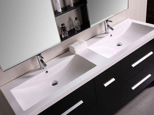 Integrated Sink Bathroom Vanities Inspired By Design Modern Bathroom Vanity Double Sink Vanity Double Sink Bathroom Vanity