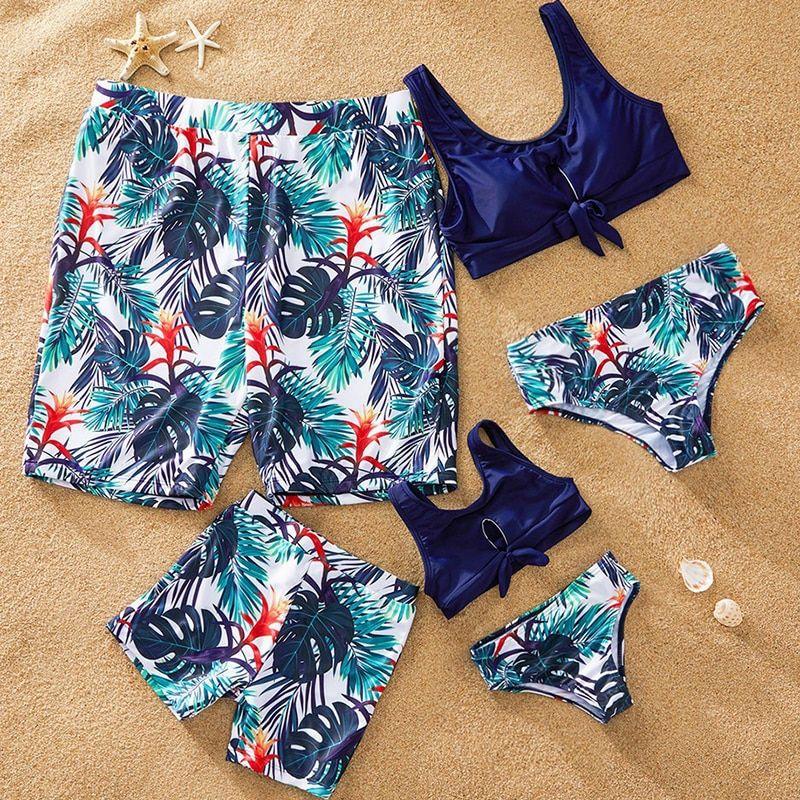 Couple Swimwear Swimsuit Men Swimming Trunks Bathing Suit Women Stripe Bikini UK