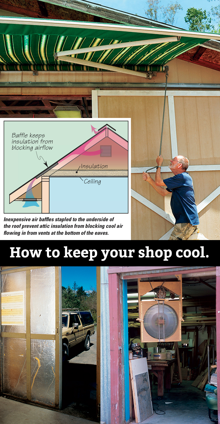 How To Keep Your Shop Cool Woodworking Projects Diy