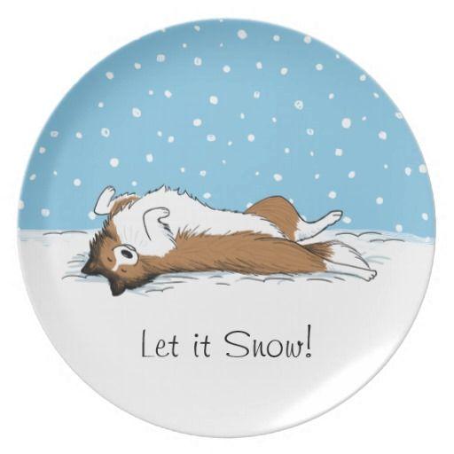 Shetland Sheepdog Snow Dog - Sheltie Holiday Melamine Plate  sc 1 st  Pinterest & Shetland Sheepdog Snow Dog - Sheltie Holiday Melamine Plate | Snow ...