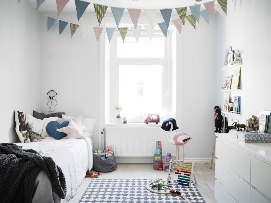 Kids Bedroom Bunting 28 elegant kids room ideas, full of colors   scandinavian style