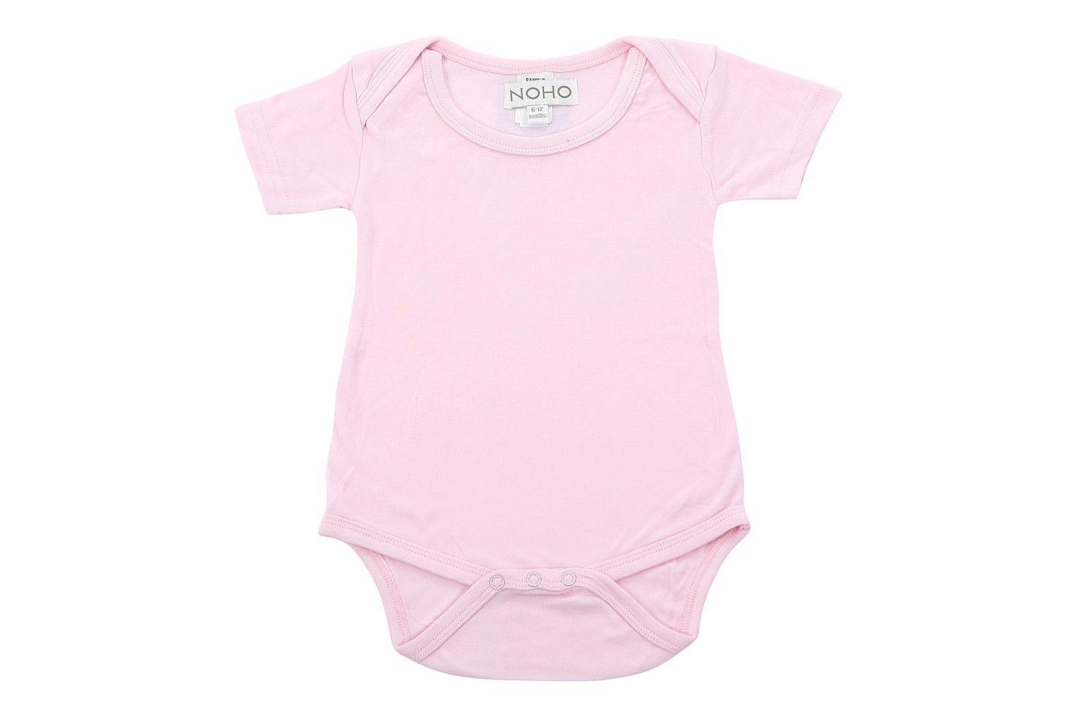 short sleeve onesie in baby pink