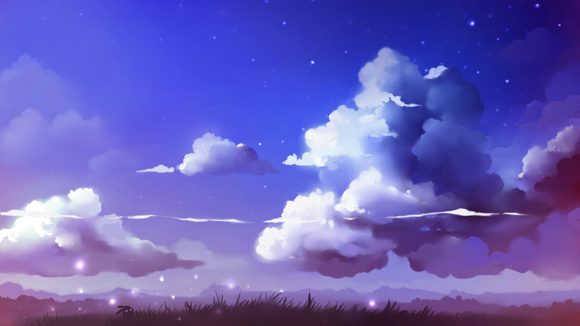 Clouds Cloud Drawing Anime Scenery Art