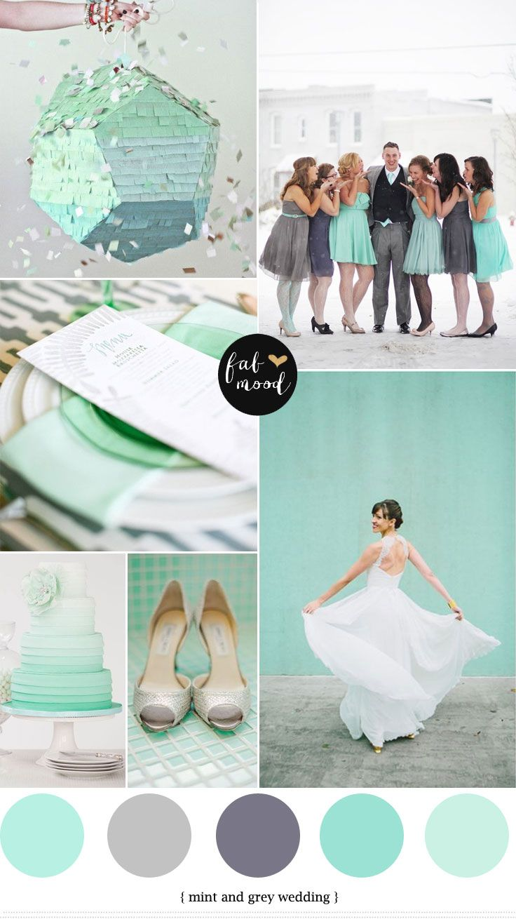 Mint And Grey Wedding WeddingAqua ColorsWedding Color SchemesGrey