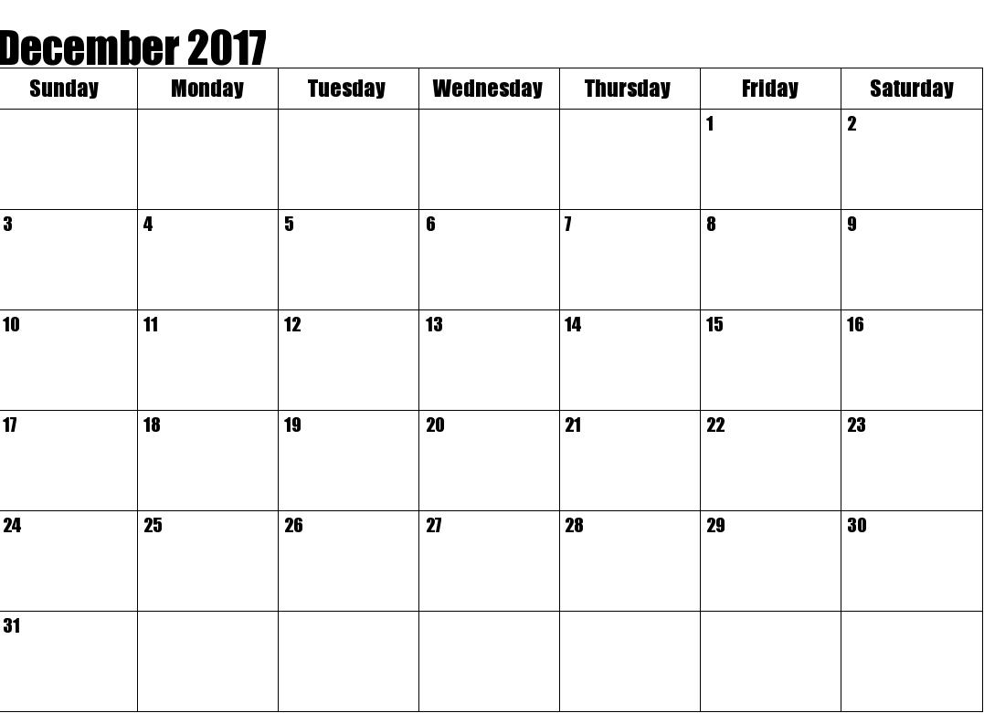 Free  December Blank Template  Maxcalendars