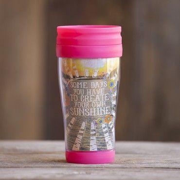 Create Your Own Sunshine #livehappy Travel Mug