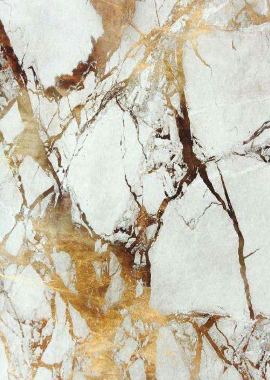 White Gold Marble Marbre Blanc Et Dore