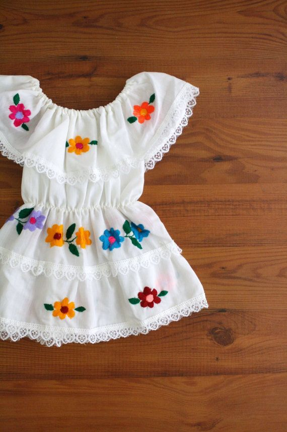 Vintage Toddler Dress Mexican Peasant Dress