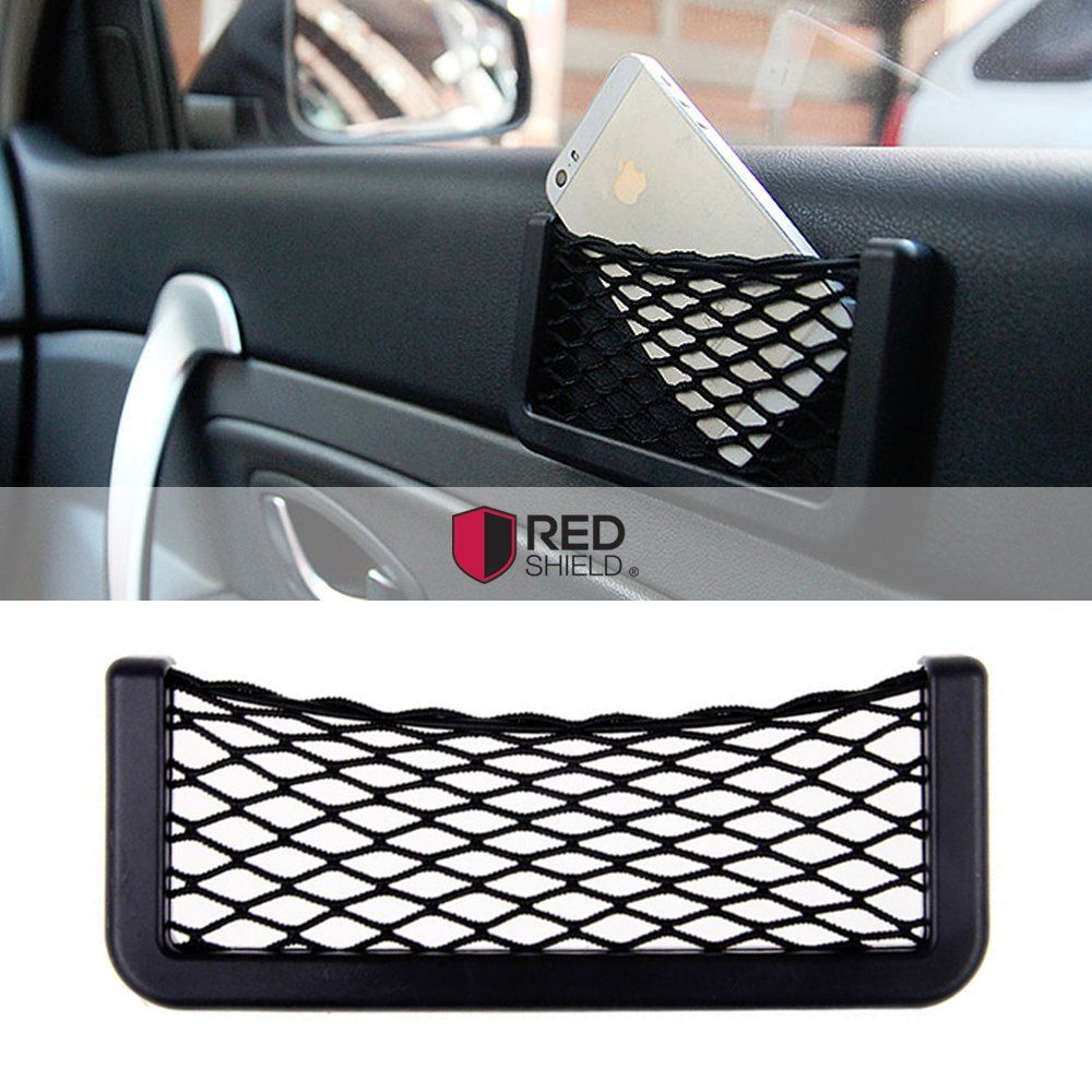 Car Net Bag Phone Holder Storage Pocket Organizer for