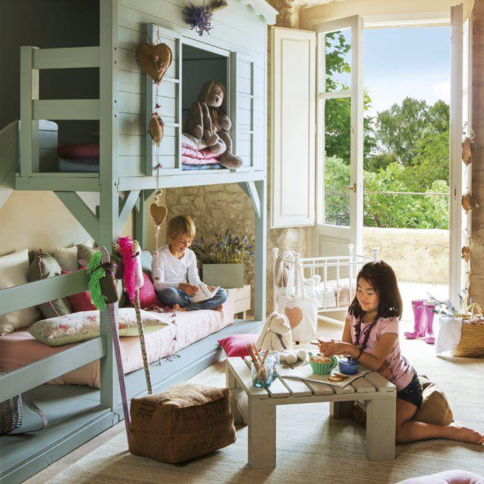 30 habitaciones infantiles con buenas soluciones muebles for Muebles habitacion infantil nina