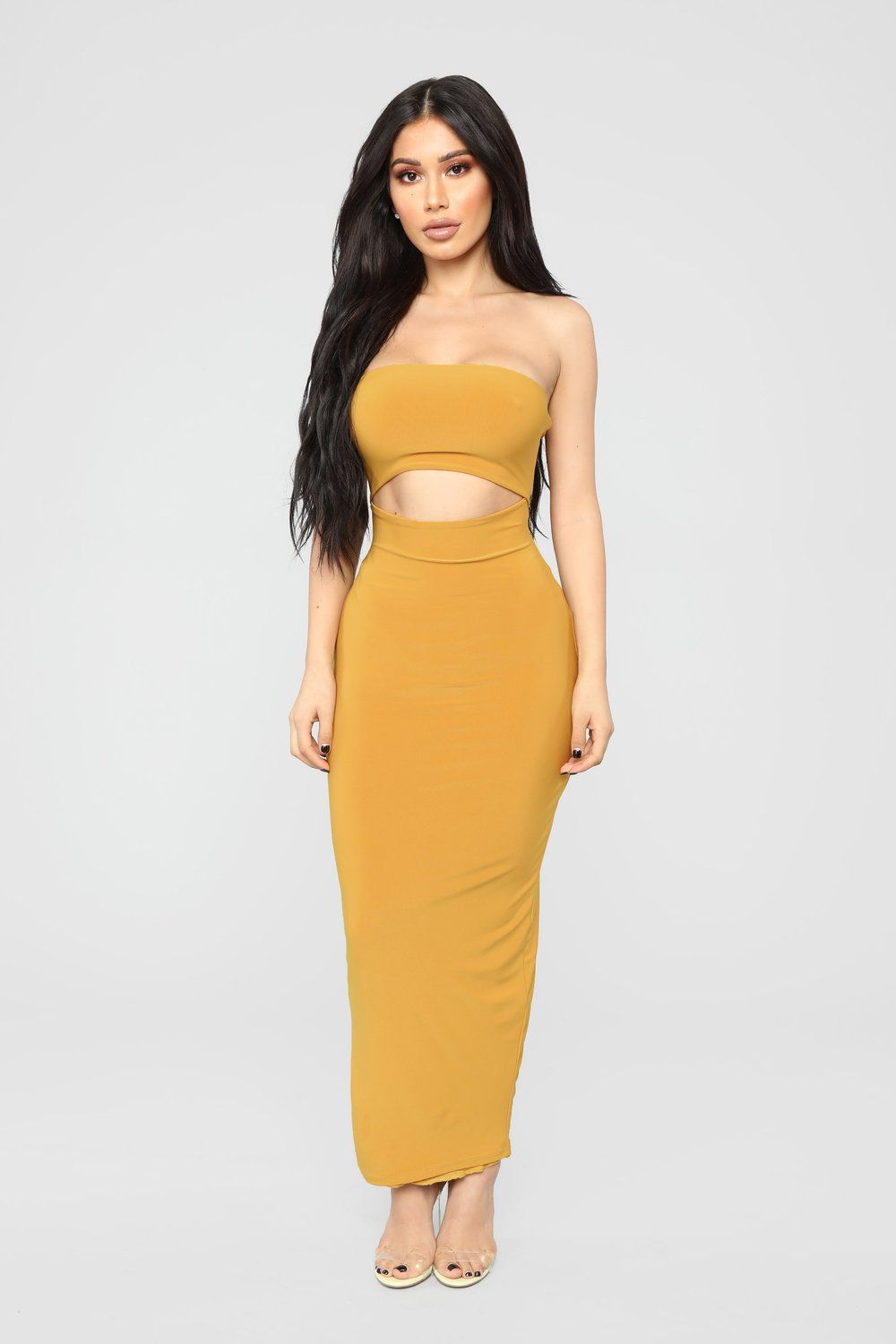 ea5dc842b0c Open To It Midi Dress - Mustard Dress Cuts, Things To Buy, Mustard,