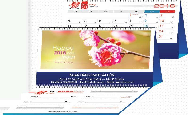 Với những bông hoa đầy màu sắc, tượng trưng cho sự tươi mới và cảnh xuân. Đây sẽ là bộ lịch tuyệt đẹp cho Xuân 2016.