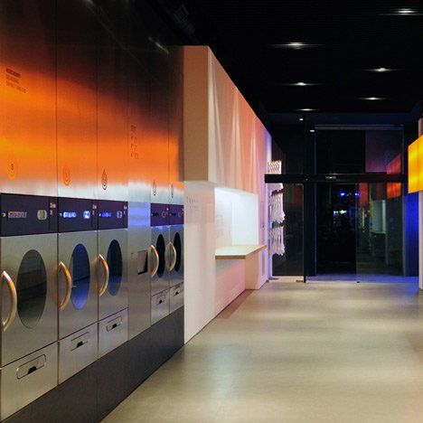 Splash Launderette By Frederic Perers Comercial Interior Design