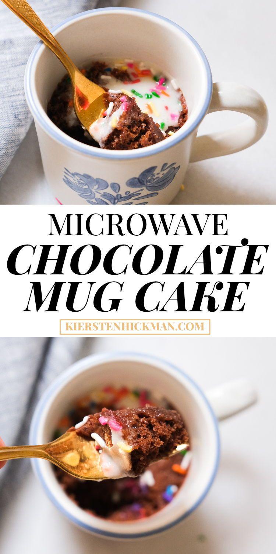 90-Second Chocolate Mug Cake Recipe Recipe | Kiersten ...