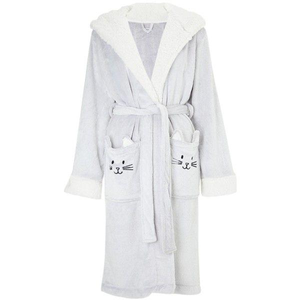 4 KIDZ Childrens Novelty Cat Design Fleece Dressing Gown