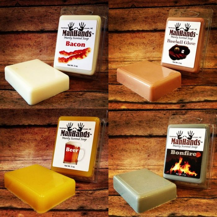 ManHands Manly-Scented Soaps Because All You Need to Be a Man is to
