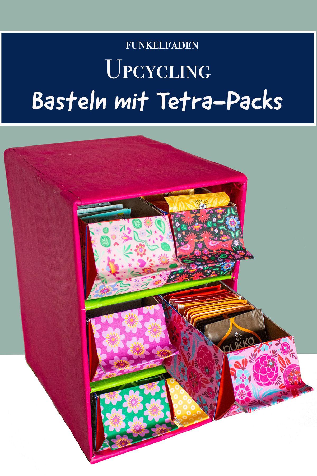 Upcycling - DIY Anleitung Regal aus Tetra-Packs und Kartons basteln