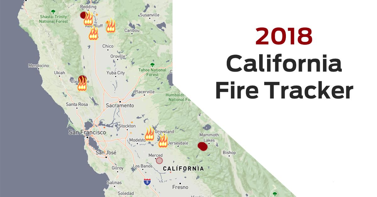 Fires California Map.California Fire Tracker The Latest On Wildfires Across The State