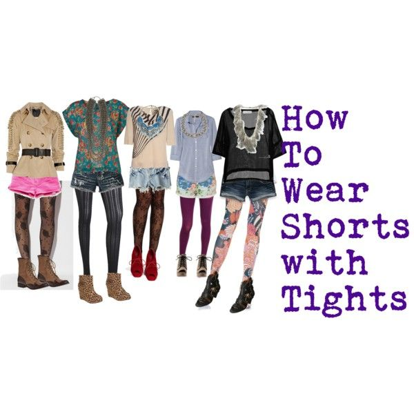 """""""Shorts with tights trend"""" by studsandsparkles on Polyvore"""