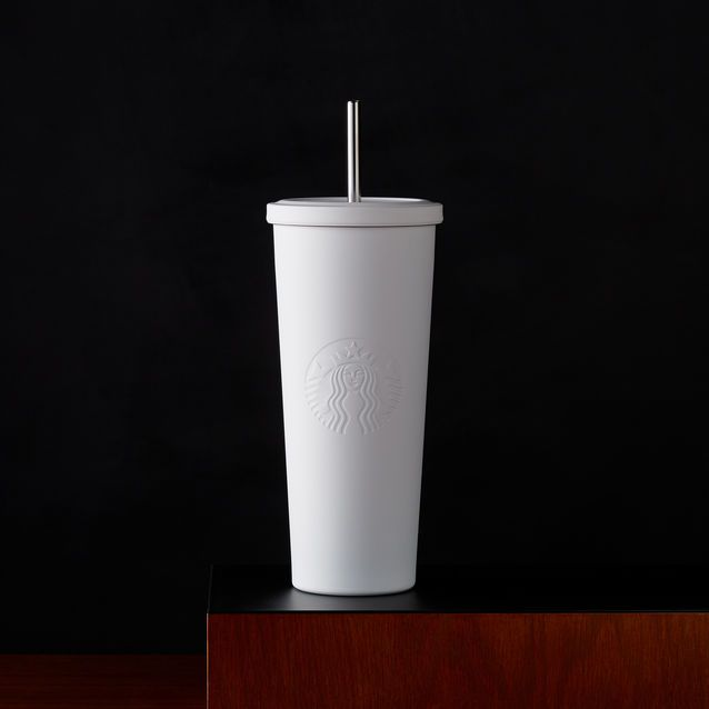 Starbucks Stainless Steel Cold Cup Tumbler Matte White