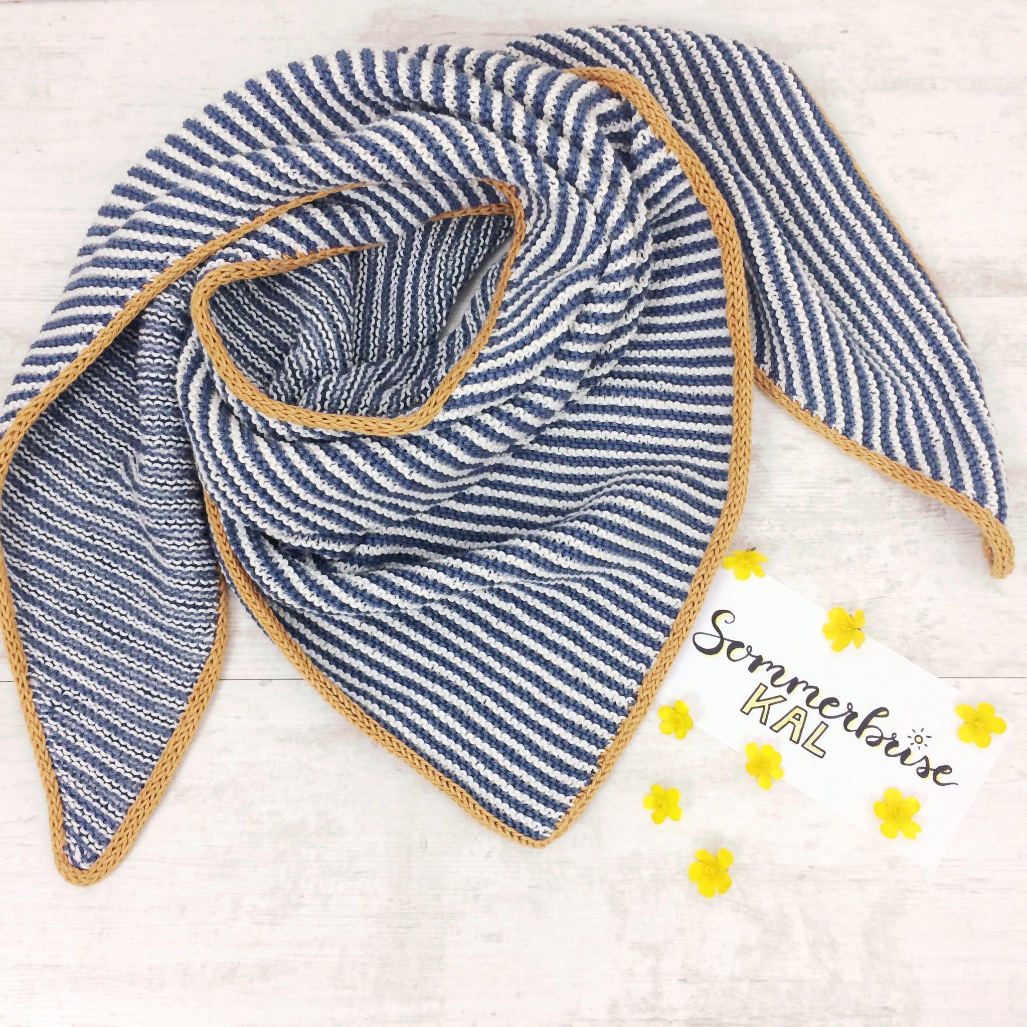 Dreieckstuch Sommerbrise Catania Schachenmayr Gratisanleitung stricken #scarves