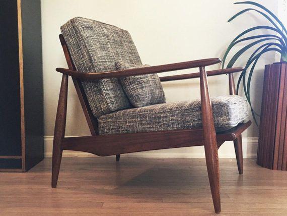 Vintage Mid Century Modern MCM Lounge Chair Danish Style