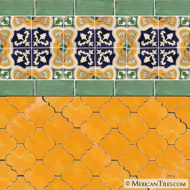 Sunflower Yellow Andaluz Terra Nova Hacienda Ceramic Tile Ceramic Tiles Mexican Ceramics Mexican Tile