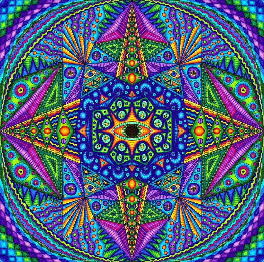 Mandala Madness by Matt Molloy Two dimensional representations of sacred geometry.