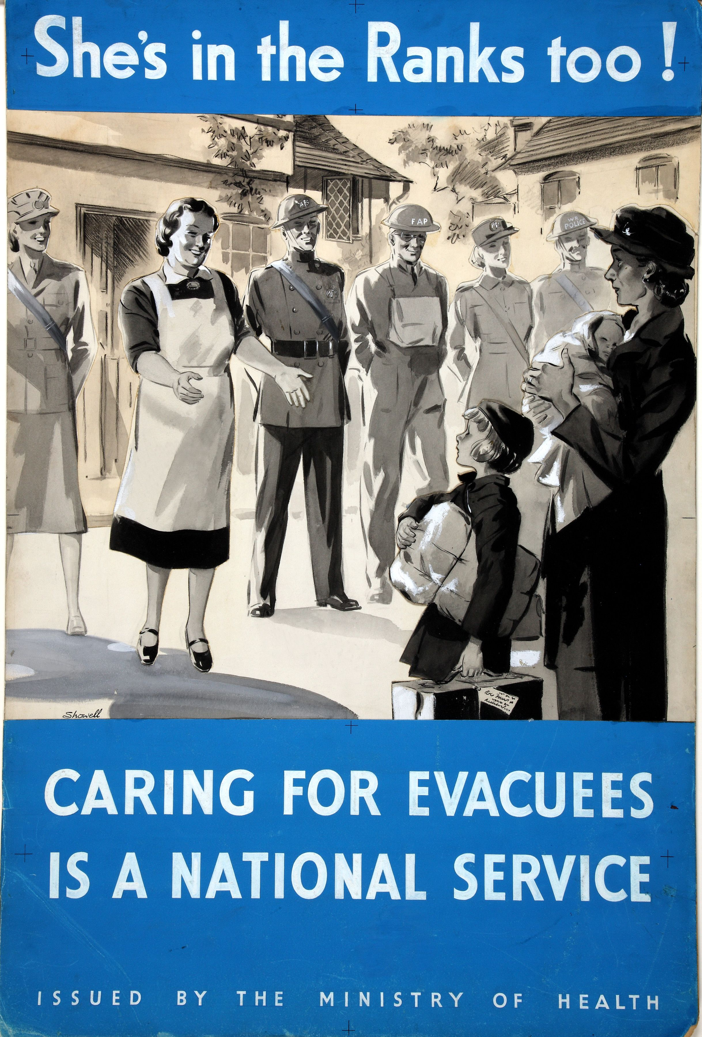 File Inf3 86 Evacuation Of Children Artist Showell