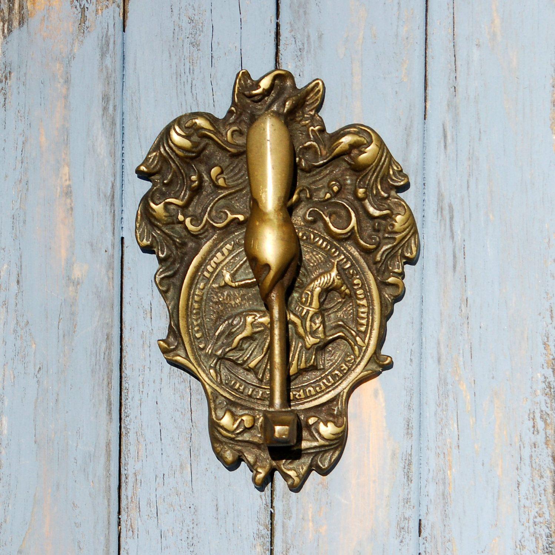 antique Masonic Knights Templar door knocker - in brass - Antique Masonic Knights Templar Door Knocker Brass Knights Templar