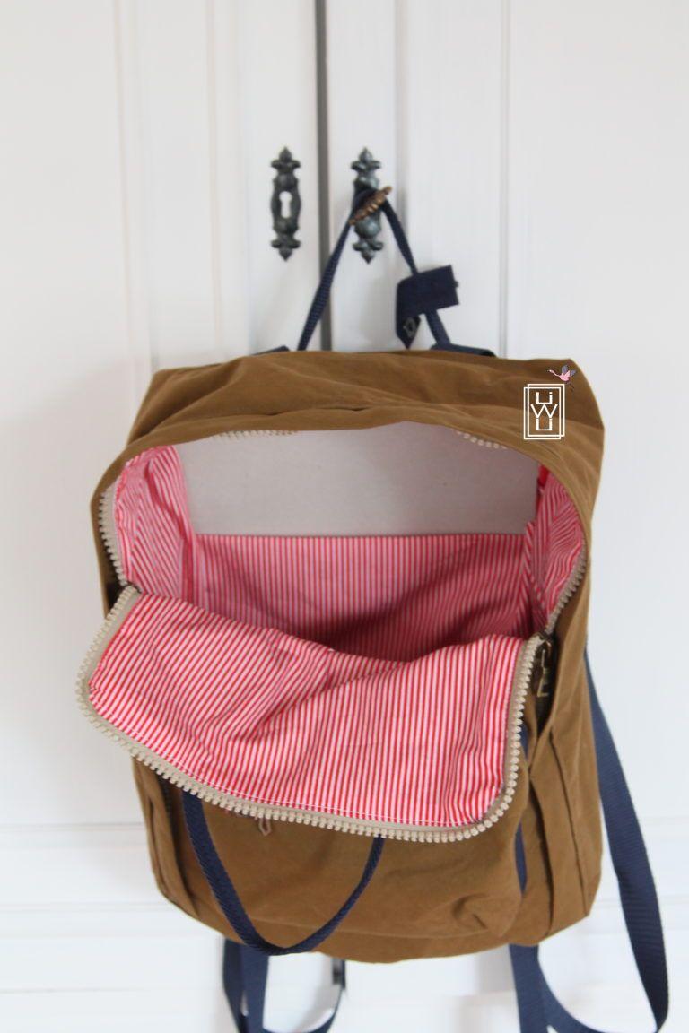Der andere Rucksack – Freebook (Mein anderes Ich) – Lila wie Liebe – Bolsa de moda