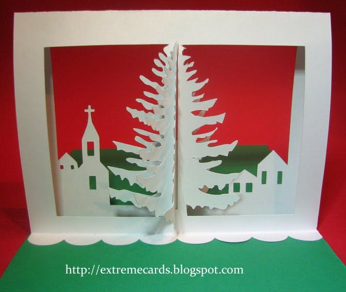 3d Christmas Tree Pop Up Card Tutorial Pop Up Christmas Cards Diy Christmas Cards Christmas Crafts Diy