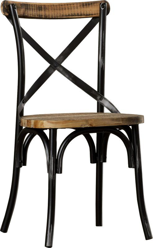 Charnwood Cross Back Side Chair In Brown In 2020 Metal