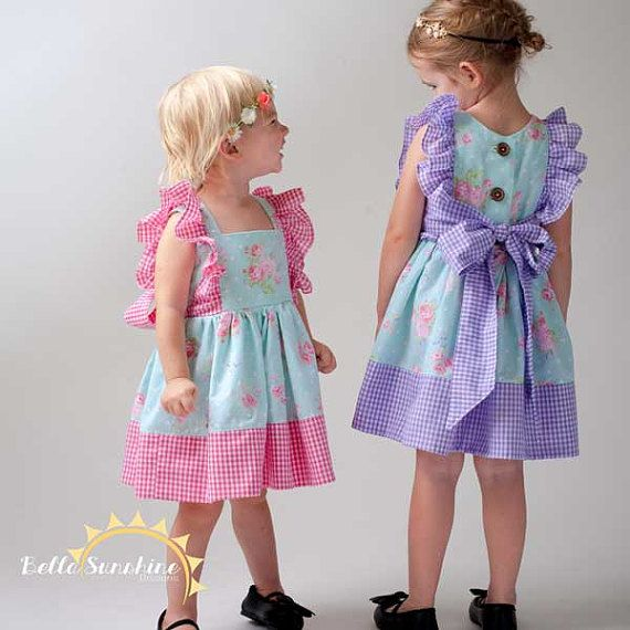 Juliet Flutter Dress girls dress pdf PDF Sewing Patterns | baby girl ...