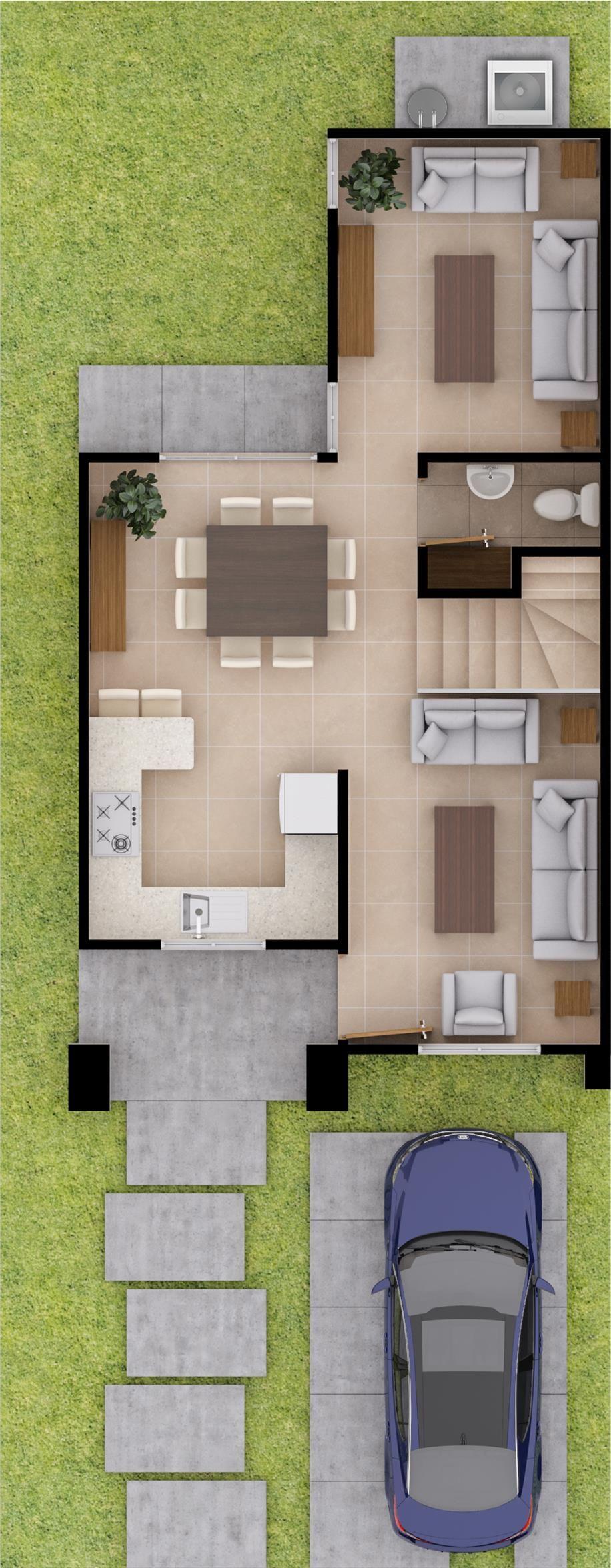 Modelo mila casas visi n mexicali tijuana guadalajara for Fachadas de casas modernas en hermosillo