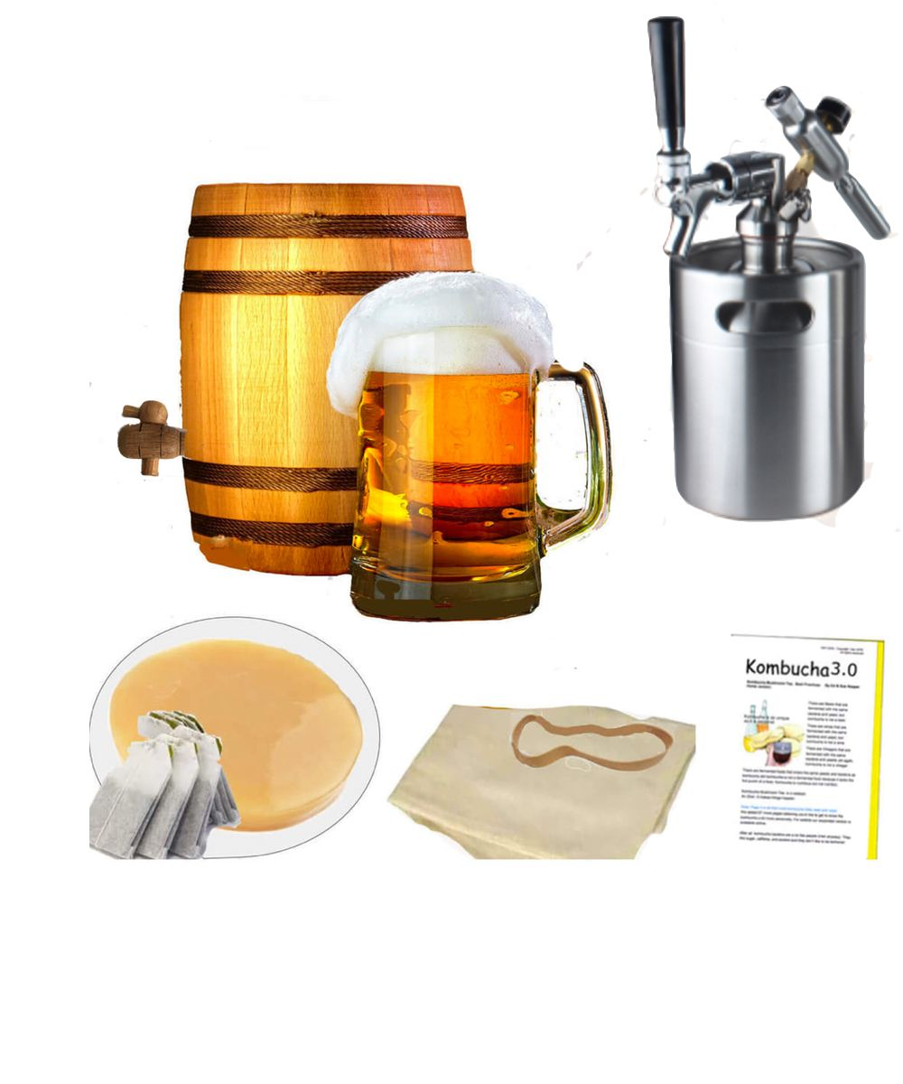 Can You Get Drunk Off Kombucha Kombucha Mushroom Tea Brewed In Natural American Oak Why Oak Barrel Brewing Oak Mellows Out Harshness By Removing Toxins And Unwanted Elements With Images Mushroom Tea