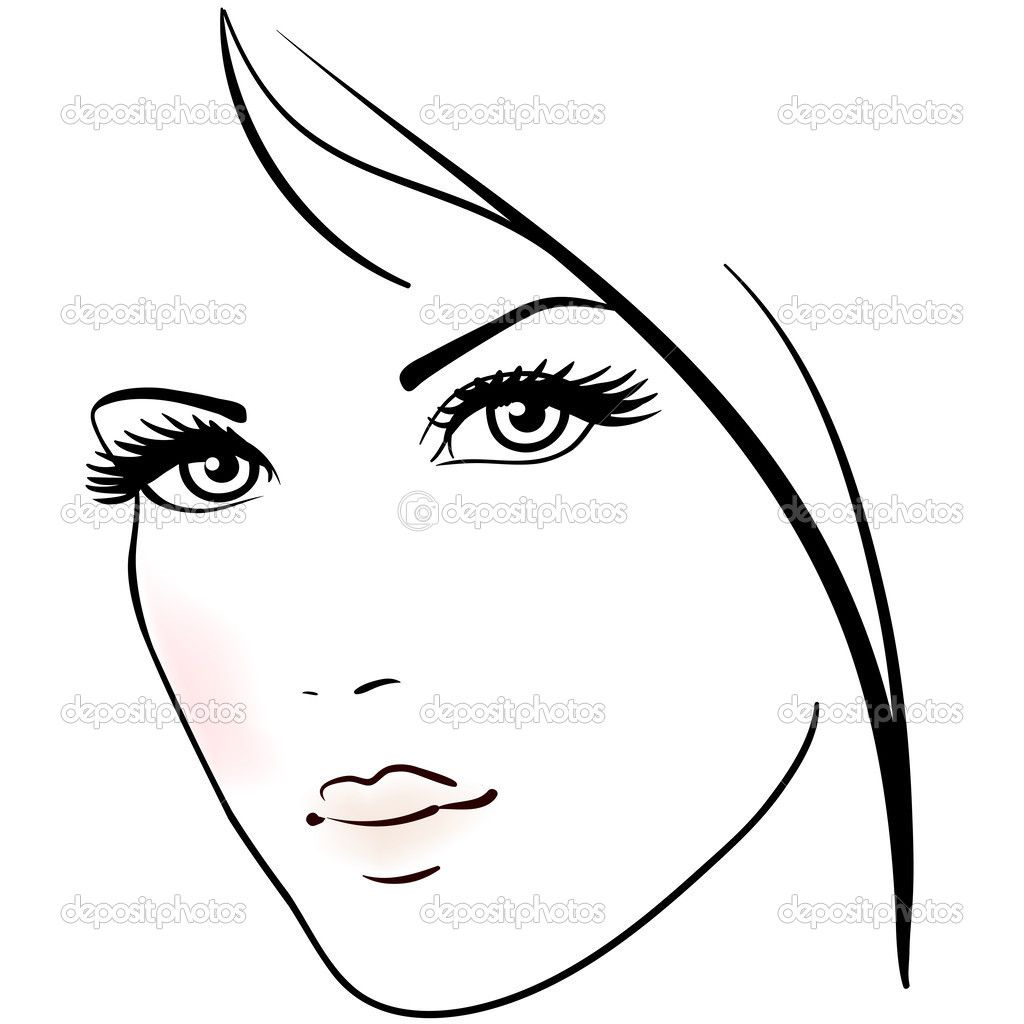 Easy to draw female faces beautiful woman face drawing beautiful woman face stock