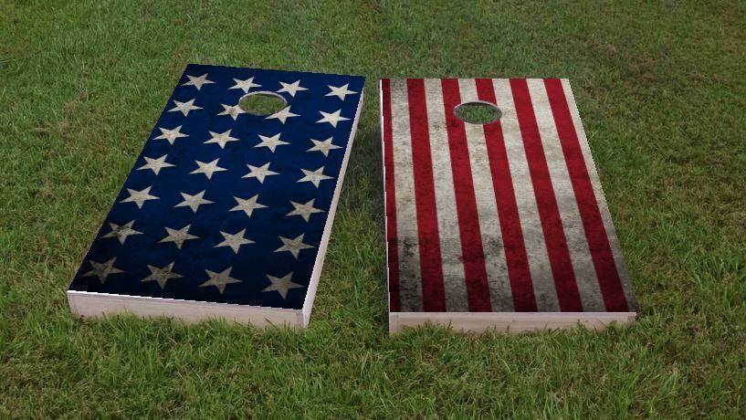 Turkey Hunting Themed 2x4 Custom Cornhole Board Set With